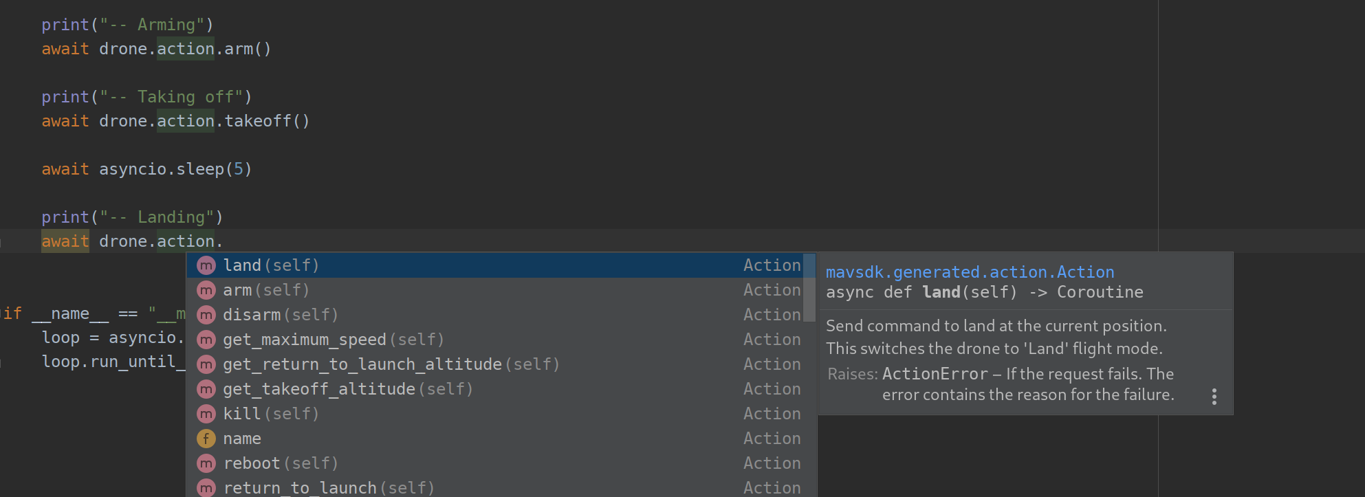 Auto-completion in PyCharm
